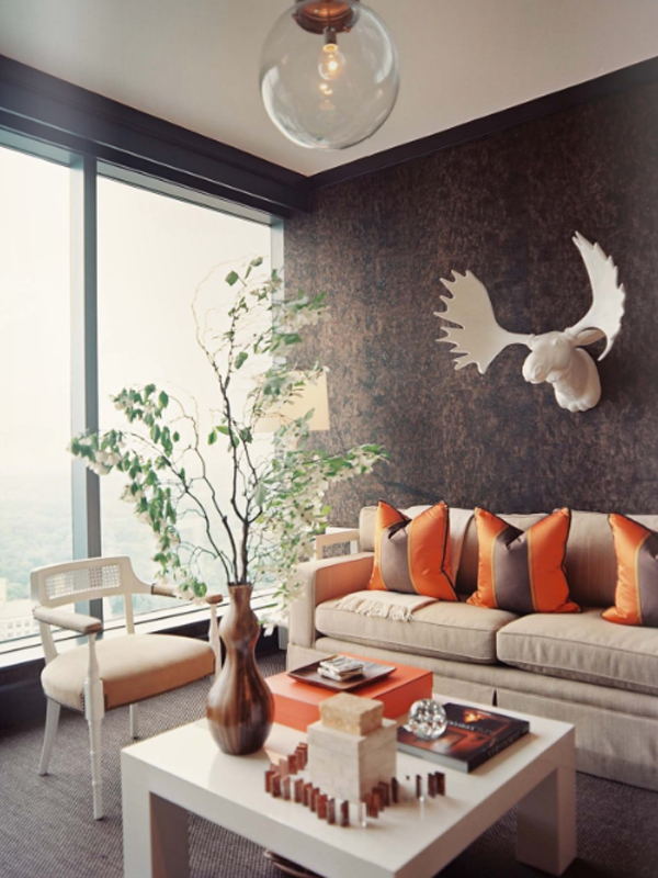 Cork-wallpaper-in-living-room