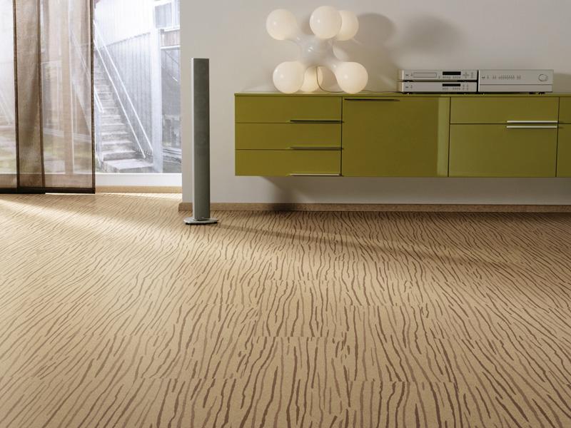 Modern-interior-with-cork-floor