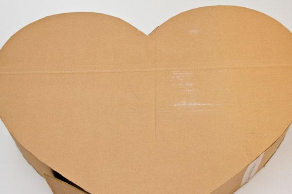 Объемное сердце из картона