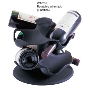 Rotatable wine rack