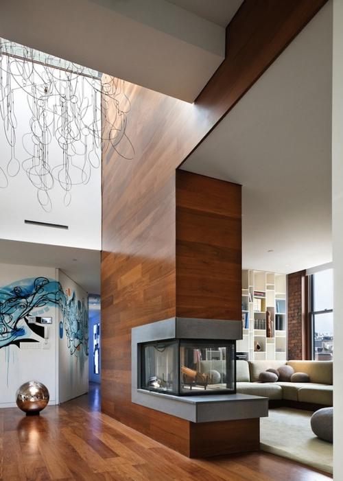 fireplace-Open-Plan-New-York-Art-Loft-Joel-Sanders-Architect