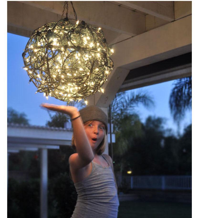 Светильник для дачи своими руками из подручных материалов 18