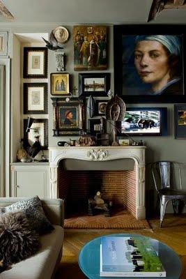 wall picture collages via cote paris