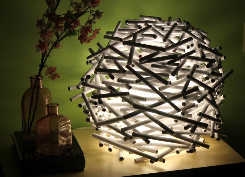 Сделать светильник своими руками из подручных материалов