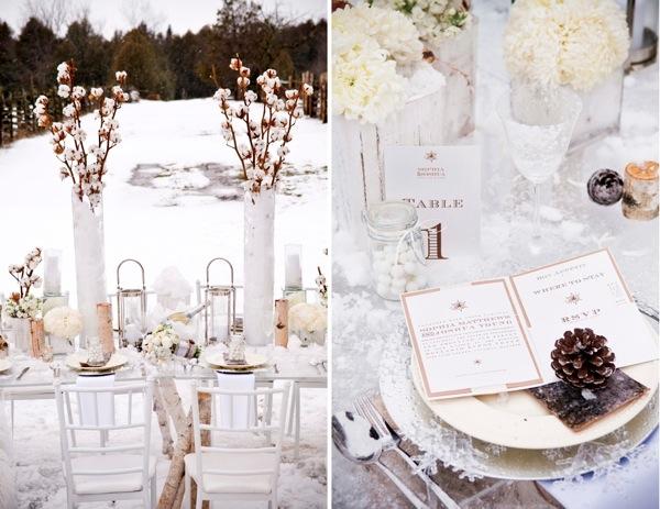Muskoka Winter Wedding Flowers Decor