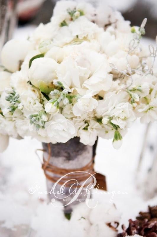Winter Wedding Bouquet Toronto Muskoka