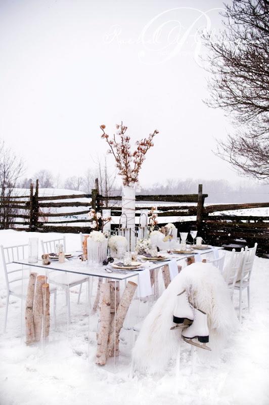 Winter Wedding Decor Flowers Toronto Muskoka