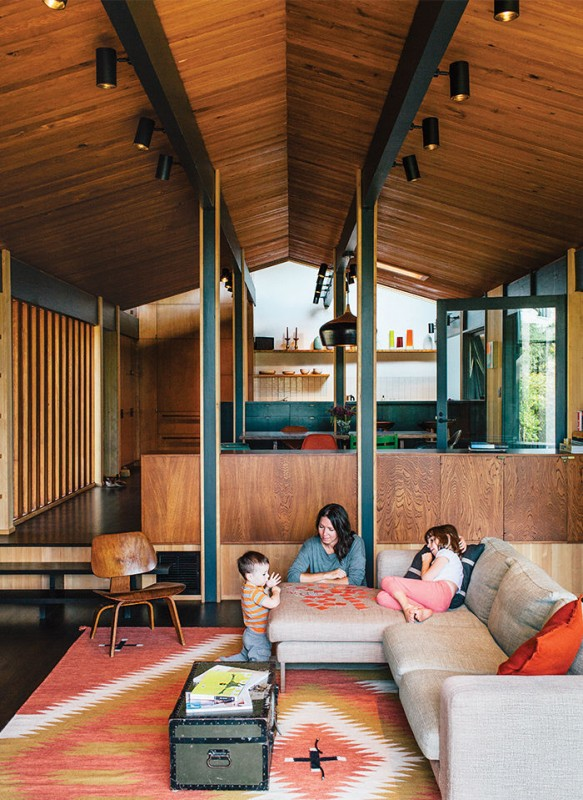 midcentury-renewal-living-room-wood-ceiling-walls