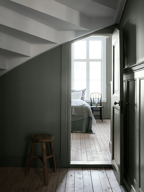 View-to-bedroom-earthy-muted-green-wall