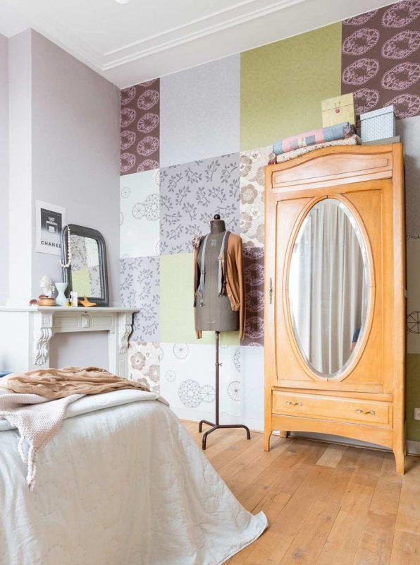 11-slaapkamer-patchwork-behang