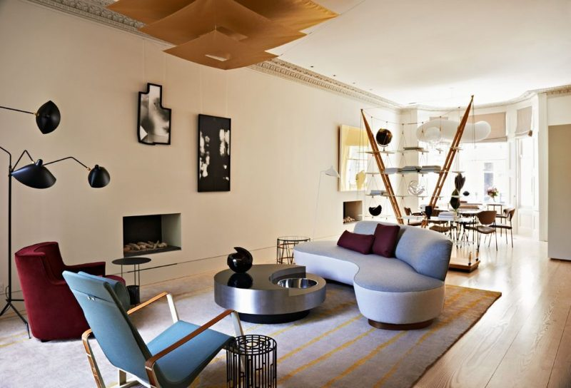Mid-century and constructivism in a house in Notting Hill