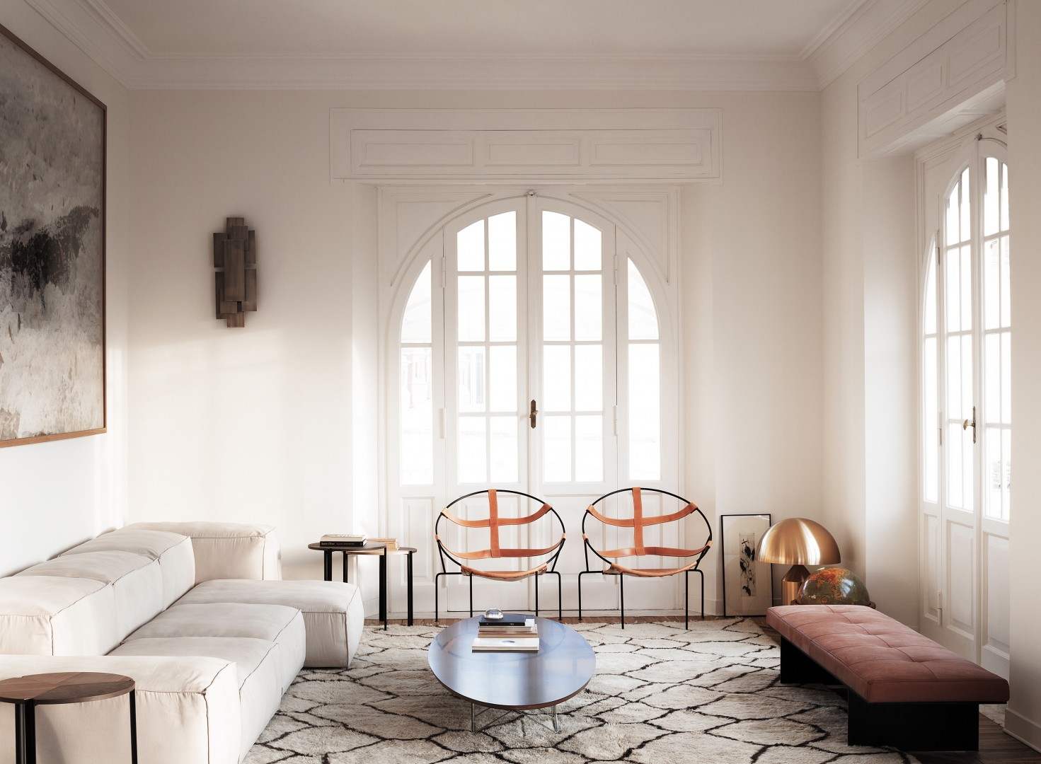 Cultured cm apartment showcases refined chic roman style